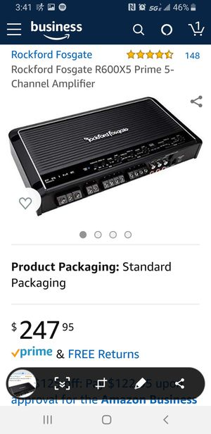 Rockford fosgate 5 channel amplifier for Sale in Lakeway, TX