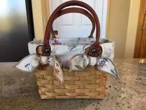 2003 LONGABERGER 6-1/4 inch tall Basket Purse w/ high quality Liner & Plastic Protector. for Sale in San Diego, CA