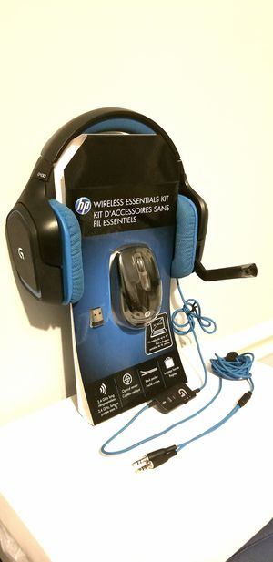 Logitech G430 7.1 Headset with wireless Laser mouse for Sale in Fairfax, VA
