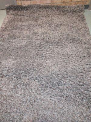 Shag rug ash gray 5 3 x7 3 for Sale in Alexandria, VA