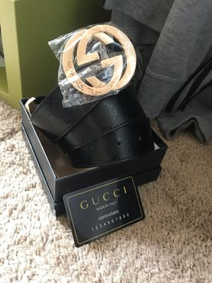 Black gg belt with gold buckle for Sale in Silver Spring, MD