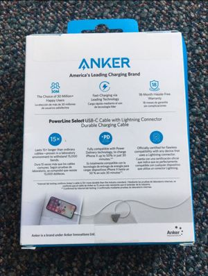 Anker lightening charger for iPhone iPad iPod for Sale in Stockton, CA