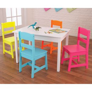 Highlighter Table and 4 Chair Set for Kids Learning Time Home Furniture for Sale in Los Angeles, CA