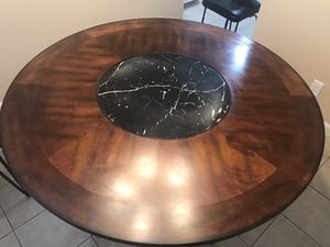Nice table with lazy Susan & 4 chairs $150 for Sale in Concord, CA