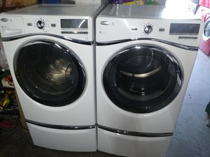 🏭whirlpool duet washer large capacity dryer electric steam nice set🏭 for Sale in Houston, TX