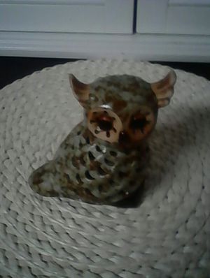 Cute little owl you put a tea light in it it lights up . for Sale in Loganville, GA