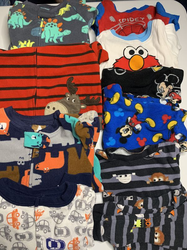 Lot of 12 piece 18 months Pajamas Sleepers and 2 piece sets all for ONE PRICE