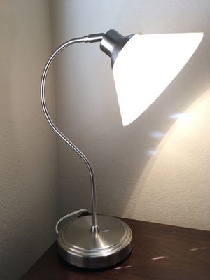 IKEA KROBY Nickle Plated Glass Shade Work/Study/Table Lamp for Sale in Lodi, CA