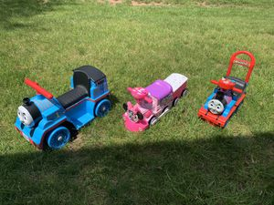 Kids toy, ride on trains and double stroller for Sale in Fairfax, VA