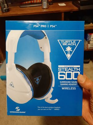 BRAND NEW Wireless Turtle beach Stealth 600 White PS4 for Sale in Camas, WA