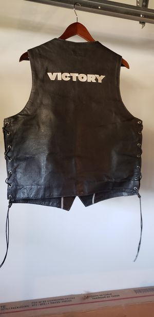 Victory Motorcycles leather vest for Sale in Oak Park, CA