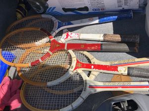 Wooden Vintage Tennis Rackets for Sale in San Diego, CA