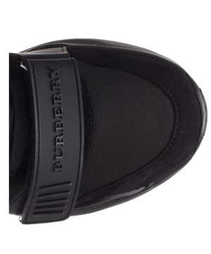 Burberry shoes black hight top sneakers for Sale in Winter Hill, MA