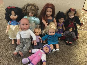 Dolls all for 30$ for Sale in Dallas, TX