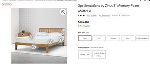 """Spa Sensations by Zinus 8"""" Memory Foam Mattress and Ikea Malm twin bed frame for Sale in Herndon, VA"""