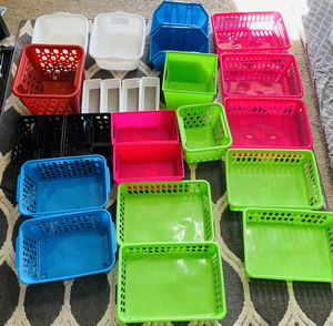 24 piece storage/organizers for multipurpose use - Neat and Clean for Sale in Phoenix, AZ