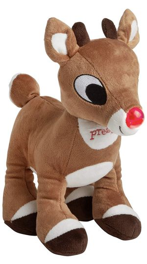 "Rashti & Rashti Rudolph the Red-Nosed Reindeer 11"" Lights and Sound Plush Stuffed Animal for Sale in Alexandria, VA"