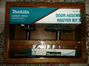 Makita Door Assembly and Router Bits Sets. for Sale in Surprise, AZ