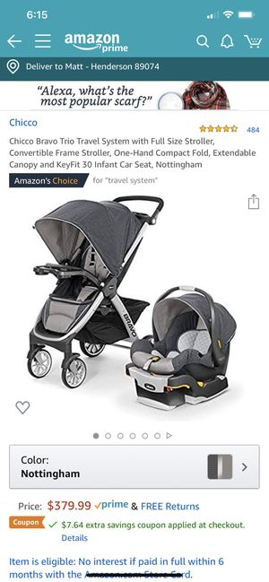 Chicco Bravo travel system for Sale in Henderson, NV