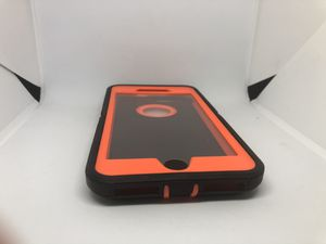 For iPhone 7 Plus / iPhone 8 Plus orange / black hard case funda cover protector for Sale in Redwood City, CA