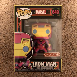 Funko Pop Vinyl - Marvel Iron Man 🤖 ✨ (Target Exclusive Black Light 🔮) for Sale in Vienna, VA