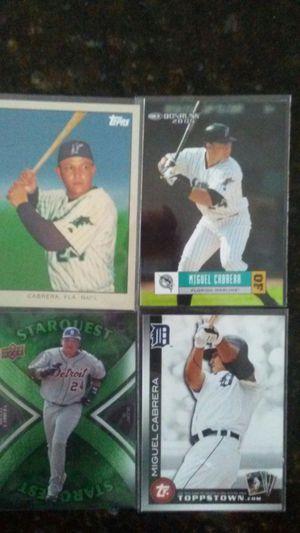 Miguel Cabrera FLA DET Baseball Cards for Sale in BVL, FL