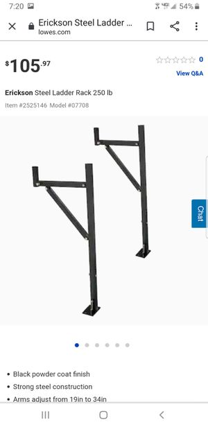 Ladder racks 100$ like new just need new bolts for Sale in Seattle, WA