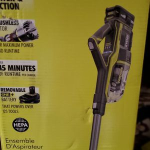 RYOBI CORDLESS 18V STICK VAC NEW IN THE BOX TOOLONLY% for Sale in Beaumont, CA