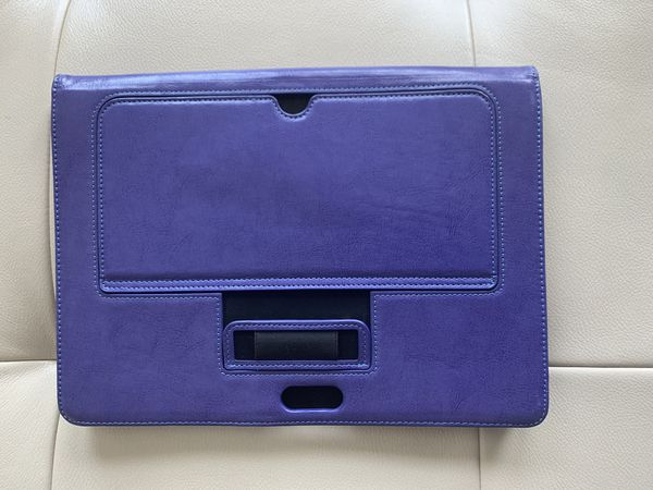 Microsoft surface laptop case purple leather with kickstand