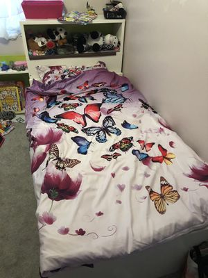 Kids ikea twin bed with headboard and drawers for Sale in Santee, CA
