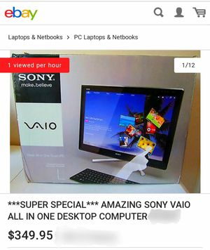 SONY VAIO ALL IN ONE DESKTOP COMPUTER for Sale in Abilene, TX