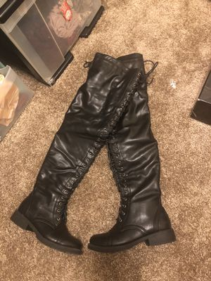Women's Black Thigh High Leather Boots for Sale in Kent, WA