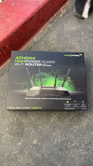 Athena high power AC 2600 WiFi router with mu-mimo for Sale in Downey, CA