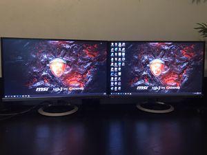 """2 Asus 25"""" monitors for Sale in Bradenton, FL"""
