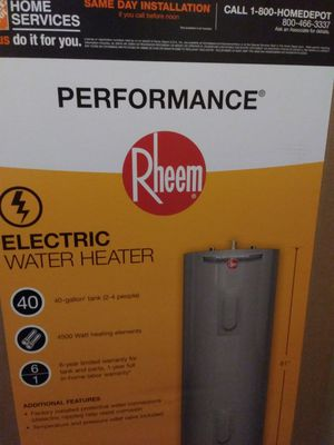Brand new in the box Rheem Electric hot water Heater. $325 firm. for Sale in Newalla, OK
