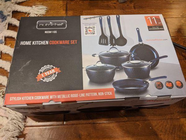 Nutrichef Diamond Home Kitchen Non-Stick Cookware Set NCCW11