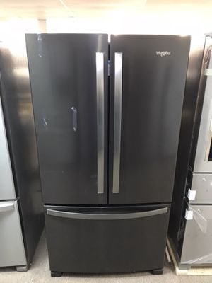Brand new whirlpool slate colored French drawer refrigerator for Sale in Houston, TX