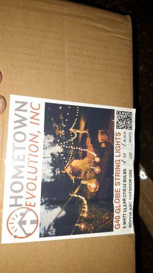 Indoor outdoor string globe lights for Sale in Klamath Falls, OR