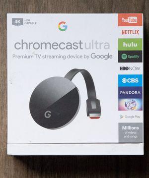 Chromecast Ultra 4K HDR for Sale in Phoenix, AZ