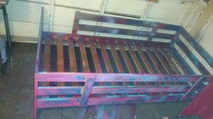 sturdy wood Twin bed frame built with rails for Sale in Fresno, CA