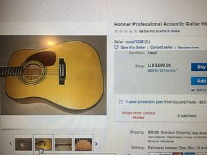 Classic Hohner Professional Acoustic Guitar for Sale in Las Vegas, NV