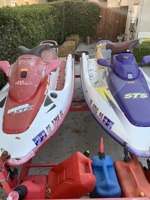 Two 3 Seater Jet Skis with trailer for Sale in Fresno, CA