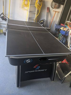 2 in 1 game table, air powered hockey table with table tennis top for Sale in Aliso Viejo, CA