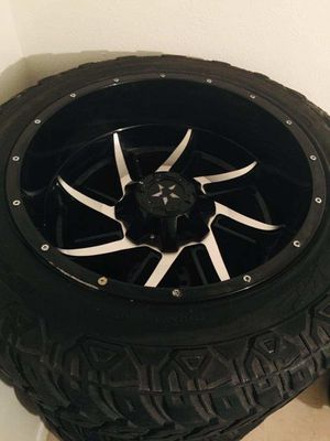 20x12 6 lug wheels for Sale in Grand Prairie, TX
