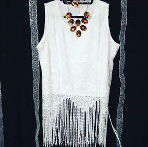 2X White fringe top for Sale in Spokane Valley, WA
