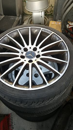 Amg mercedes benz wheels rims 19 inch 5x112 for Sale in La Verne, CA