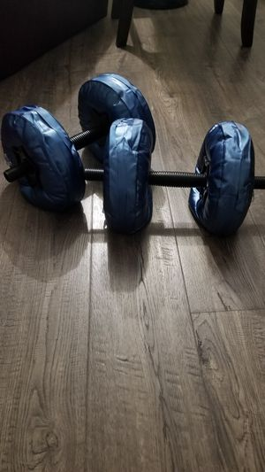 Water-filled dumbells for Sale in Englewood, NJ