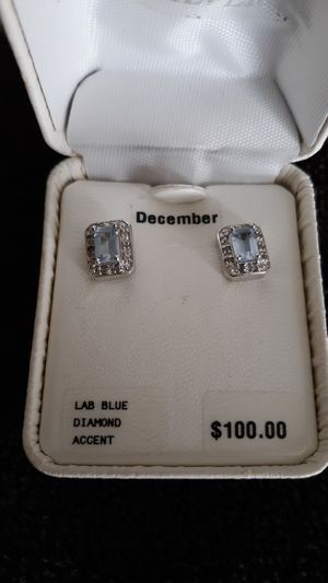 Sterling silver lab blue diamond accent for Sale in Bloomington, IL