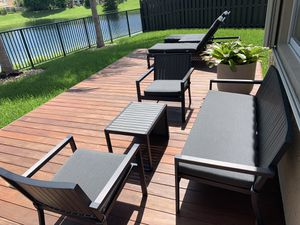 Outdoor Furniture, Crate and Barrel Alfresco 7 Piece Set for Sale in Cutler Bay, FL