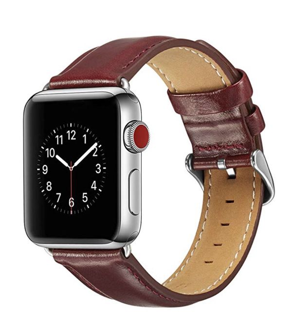 Compatable Apple Watch Band 40mm 38mClassic Style Genuine Leather Iwatch Bands Stainless Metal Buckle Replacement Strap Compatible Apple Watch Series